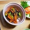 【腸活】【作り置き】【レンジで簡単レシピ】ひじきと枝豆のわさび煮の作り方。