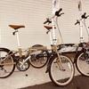 特価!ネコモチーフ折り畳み自転車。