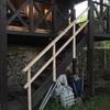 別荘 階段手摺り製作⑥ 完結