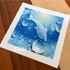 水滴アート ブルー 寒色系