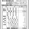 株式会社マックスマーラジャパン 第30期決算公告