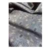 着物生地(394)幾何学模様織り出し正藍泥大島紬割込絣