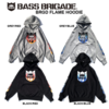 【バスブリゲード】炎デザインのフレームロゴをプリントした「BRGD FLAME HOODIE」通販サイト入荷!