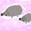 デジタルアート その8 ネズミの親子
