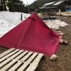 八ヶ岳・黒百合ヒュッテでテントを試す。