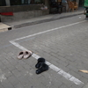 上海の歩道から