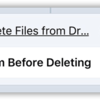 Delete Files from Dropbox