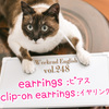 【週末英語#248】英語でピアスは「earrings」、イヤリングは「clip-on earrings」