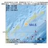 2016年10月22日 01時12分 択捉島付近でM4.6の地震