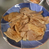 幸運な病のレシピ( 1730 )朝:脂の多いロースの生姜てりやき、イワシ、鮭、ブロッコリ、味噌汁(桂むきの練習)、マユのご飯