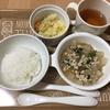 夜ごはん☆大根のそぼろ煮・60円のキャベツ焼き