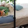 介護ベッドでテレビ視聴