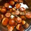 秋の味覚「土鍋で栗ごはん」