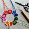 刺繍糸であみもの