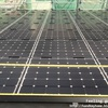 ソーラーパネルの施工順