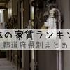 どのくらい差があるの?日本の家賃ランキング。都道府県別まとめ