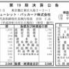 日本ヒューレットパッカード(日本HP) 第19期決算公告