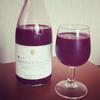 朝からワイングラスで