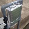 リモート水位センサ筐体内温度の上昇を抑えるためのカバーを装着