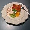 🚩外食日記(680)    宮崎   「カフェ・ド・シュウ(Cafe de Chou) 」⑤より、【Cコンビ(エビフライ・ハンバーグ)】【キャラメルムース】‼️