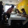 絵手紙教室も初取材。