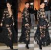 ケンダル·ジェネ,官能的なブラック·シースルー·ドレスルック·ファッション画報