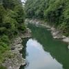 天龍峡とコスモスの湯
