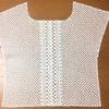 かぎ針編みのプルオーバー 身頃部分が編み終わりました。