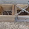 給餌用の木枠 長いビスをもんで Wooden frame for feeding