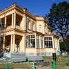 旧岩崎庭園洋館外壁の塗替え完了