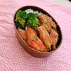 手羽中の甘辛焼きとカニカマの天ぷら弁当