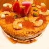 夫、誕生日~寿司ケーキで♪♪