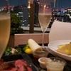 大人の夏休み③『東京エディション虎ノ門』夜景がキレイなテラスでディナーを楽しんだ。虎ノ門横丁で食料調達。