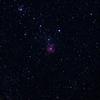 「三裂星雲M20」の撮影 2021年4月22日(機材:コ・ボーグ36ED、スリムフラットナー1.1×DG、E-PL5、ポラリエ)