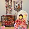 ばぁばからの贈り物。手作り「つるし雛」で初節句のお祝い♪お家で写真撮影
