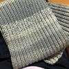 ワールドフェスタ パウダーグラデーションで編む、2目ゴム編みのマフラーが楽しい。