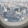 羽田新航路 機内からの景色 東京タワーが間近に見えました
