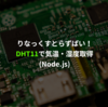 Raspberry Pi + DHT11 + Node.jsで気温・湿度を取得
