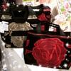 ★(22)SALE 薔薇、ローズ柄のバッグ