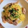 【ストレス解消レシピ】にんにくが香る塩豚とパセリのパスタの作り方。