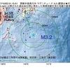 2017年10月03日 01時15分 房総半島南方沖でM3.2の地震