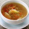 千切り野菜のコンソメスープ/お取り寄せ野菜の味