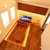 「富士見の家」照明計画の解説その3「リビングの床を照らす間接照明」