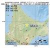 2016年07月08日 14時02分 紋別地方でM3.0の地震