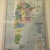 部屋にアルゼンチンの地図を貼ってみた。