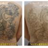 スジボリだけのタトゥー背中一面