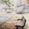 水彩画「砧公園 1」