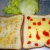 早朝レタスとチーズだけのサンドイッチ