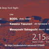 2.15 (Sat.) Equalize -Techno & Deep Tech Night-