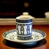 本所吾妻橋の「カフェスタイル・コジロウ」でイエメン(シングル)、濃厚水出しコーヒーソース付きプリン。